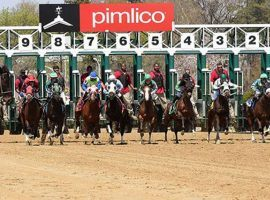Pimlico Race Course built up a record $1.351 million Rainbow 6 jackpot that must be paid out by Sunday. (Image: Maryland Jockey Club)