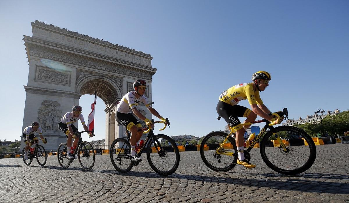 Tour de France 2021 Le Tadej Pogacar Memenangkan Pemenang Juara Back-to-Back