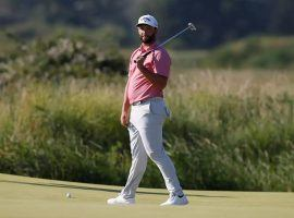 Jon Rahm withdrew from the men's golf tournament at the Tokyo Olympics after testing positive for COVID-19. (Image: Reuters)