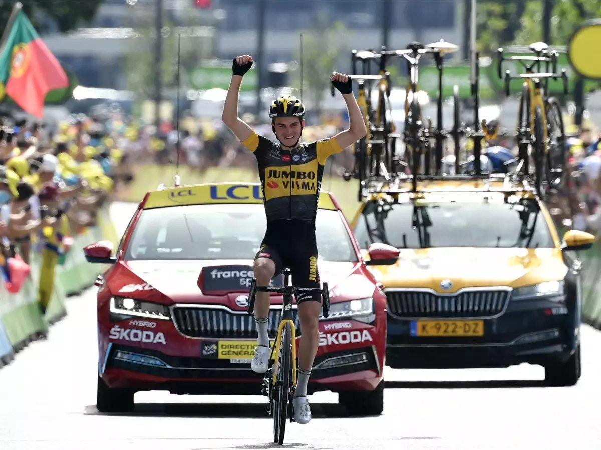 Sepp Kuss Le Tour de France Stage 15 Andorra American Jumbo Visma