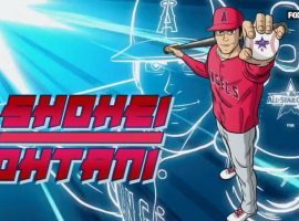 FOX aired an anime-style introduction video for Shohei Ohtani during the 2021 MLB All-Star Game. (Image: FOX/MLB)