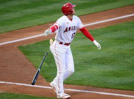 Shohei Ohtani leads a field of eight sluggers in the 2021 Home Run Derby at Coors Field on Monday night. (Image: Gary A. Vasquez/USA Today Sports)