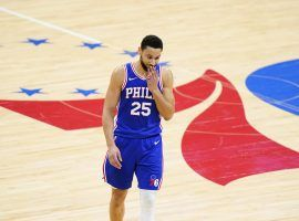 Ben Simmons of the Philadelphia 76ers is the subject of heavy trade rumors, including the LA Lakers, after a disappointing run during the 2021 NBA Playoffs. (Image: AP)