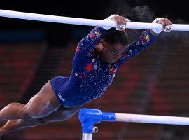 Simone Biles could win as many as six gold medals in the Tokyo Olympics, but betting options are limited because many of her opponents are under the age of 18. (Image: Dylan Martinez/Reuters)