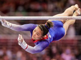 Sunisa Lee is now among the favorites in the women's gymnastics all-around competition after the withdrawal of American teammate Simone Biles. (Image: Carmen Mandato/Getty)