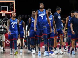 Team USA can book its place in the quarterfinals of the Olympic men's basketball tournament with a win over the Czech Republic on Saturday. (Image: Charlie Neibergall/AP)