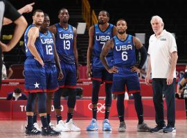 Team USA will try to rebound from a loss to France when it takes on Iran in men's basketball on Wednesday. (Image: Gregory Shamus/Getty)