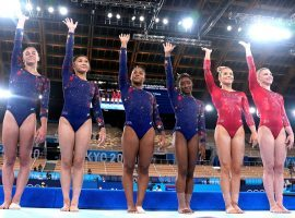 Team USA remains the favorite to win gold in the women's gymnastics team all-around competition despite a shaky performance in the qualifying round. (Image: Natacha Pisarenko/AP)