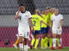 The US women's soccer team suffered a stunning 3-0 loss to Sweden in its Olympic opener, but remains the favorite to win gold in Tokyo. (Image: Ricardo Mazalan/AP)