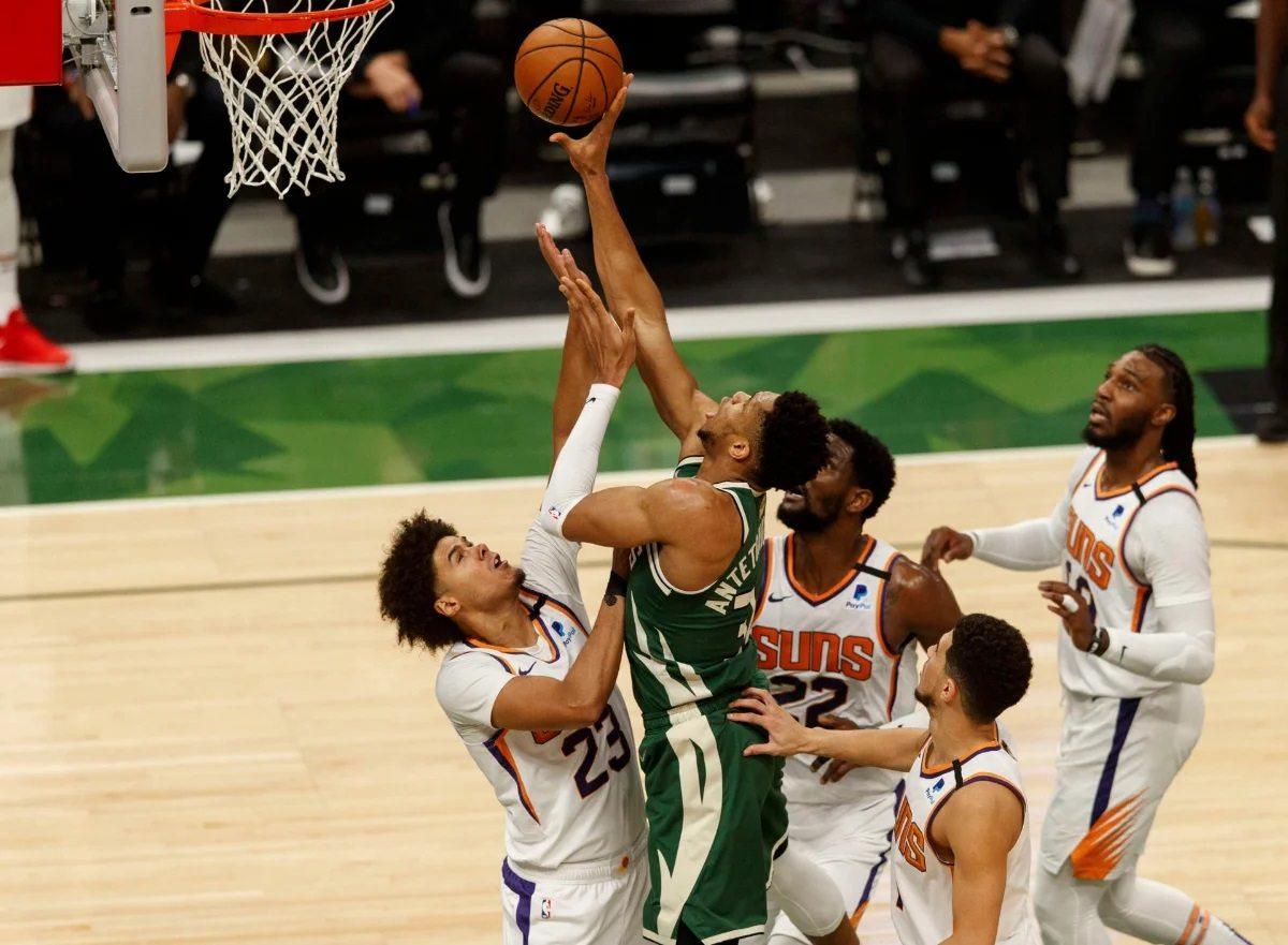 NBA Finals Game 4 Greek Freak Build Wall Giannis Phoenix Suns Milwaukee Bucks