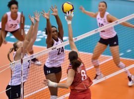 The United States is aiming for gold in women's volleyball, but China is favored heading into the Tokyo Olympics. (Image: Kazuhiro Nogi/AFP/Getty)
