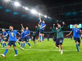 Italy beat Spain in the semi-finals at Euro 2020 and will play the final against either England or Denmark. (Image: Twitter/azzurri)