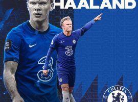 Haaland is Chelsea's main transfer target this summer. (Image: Twitter/J5Eraa)