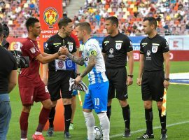 Alex Cicâldău captained Craiova in the Romanian Supercup, which his team won on penalties against CFR Cluj. (Image: Facebook/UCVoficial)