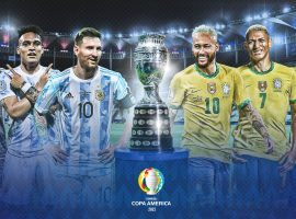 Brazil and Argentina will meet in the Copa America final in Rio de Janeiro, with Neymar and Messi leading their teams. (Image: Twitter/CopaAmerica)