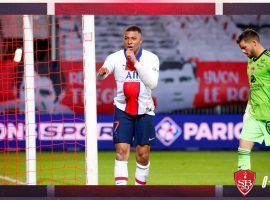 Mbappe was the top goalscorer in the French league last season, netting 27 times for PSG. (Image: Twitter/PSGinside)