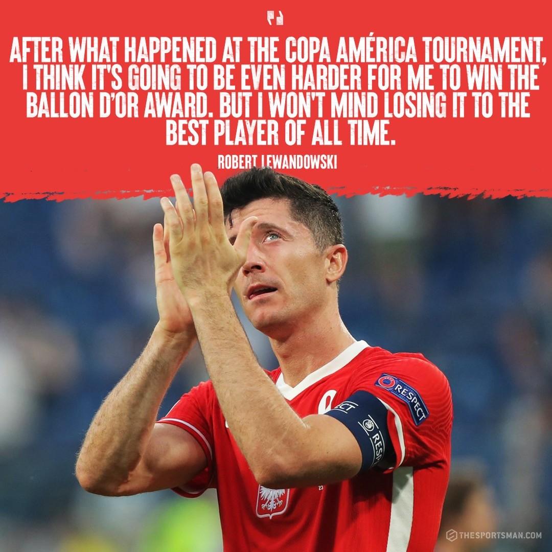 Lewandowski about Messi