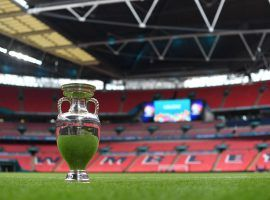 The Euro 2020 trophy will be awarded after the final at Wembley between England and Italy. (Image: Twitter/England)