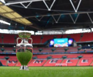Euro 2020 trophy on Wembley