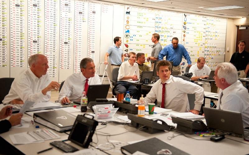 war room NFL Draft Atlanta Falcons fantasy