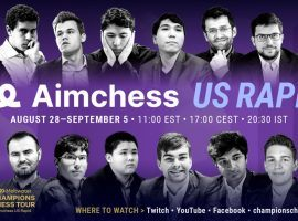 Players will be fighting for spots in the Champions Chess Tour Final during the Aimchess US Rapid, which begins on Saturday. (Image: ChampionsChessTour.com)