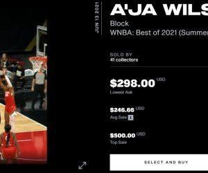 WNBA NFTs NBA Top Shot