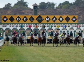 Del Mar opens its racing week Thursday with a $1.1 million Jackpot Pick 6. That seven-figure Pick 6 pays if a unique ticket picks winners in the last six races. (Image: Benoit Photo)