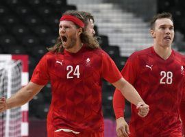 Denmark will try to win its second straight men's Olympic handball gold medal when it faces France in the final. (Image: Sergei Grits/AP)