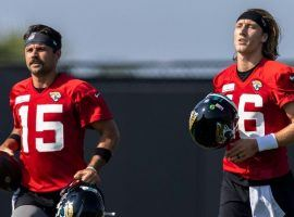Quarterbacks Gardner Minshew and rookie Trevor Lawrence are still competing for the starting job with the Jacksonville Jaguars. (Image: Porter Lambert/Getty)