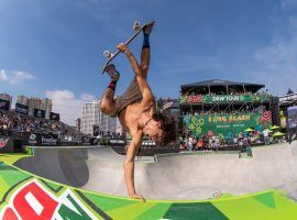 Heimana Reynolds enters the Tokyo Olympics as the gold medal favorite in the men's park skateboarding competition. (Image: MRZ)