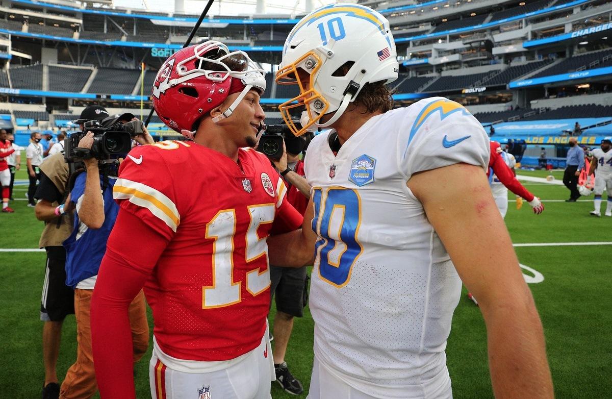 AFC West odds Kansas City Chiefs LA Chargers Raiders Broncos Mahomes Herbert