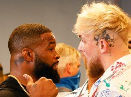 Jake Paul (right) will take on former UFC champion Tyron Woodley (left) in the YouTuber's latest venture into professional boxing. (Image: Getty)