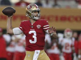 Josh Rosen drops back for a pass during a preseason game with the San Francisco 49ers. (Image: Getty)