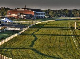 """The novel, non-oval Kentucky Downs course offers racing only six days a year. When the meet opens Sept. 5, it will go by the new name """"FanDuel Meet at Kentucky Downs."""" (Image: Kentucky Downs)"""