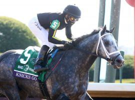 Leave Knicks Go and Joel Rosario along and they wire the field, as they did in last year's Breeders' Cup Dirt Mile. The 5-year-old is the 6/5 favorite to beat a small but deep field in Saturday's Grade 1 Whitney at Saratoga. (Image: Coady Photography)