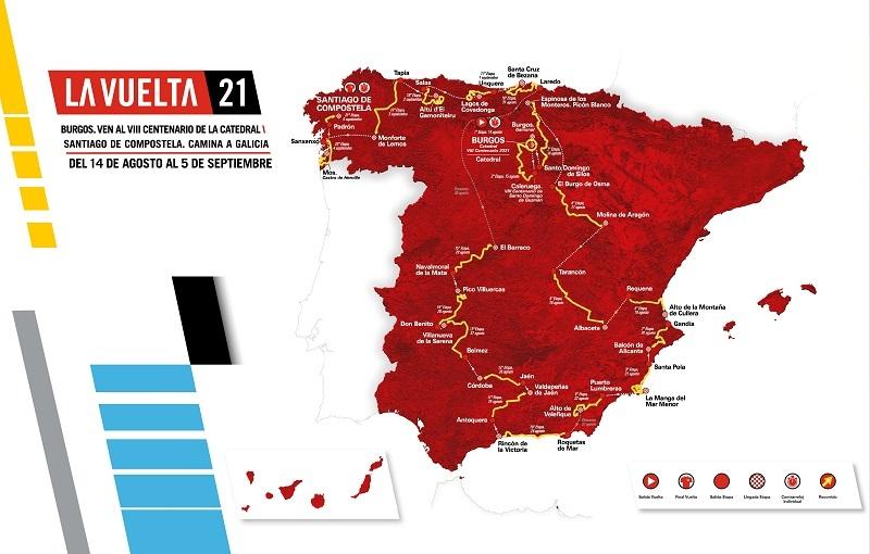 Vuelta a Espana Map 2021