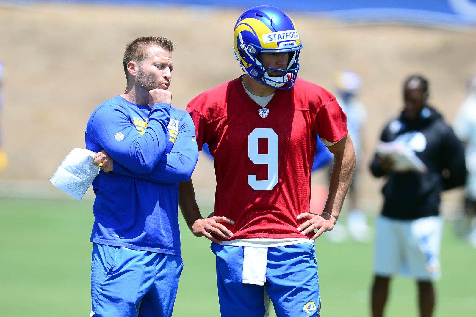 Matthew Stafford LA Rams Sean McVay NFL Week 1 lines