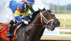 Mr Wireless called up this nearly four-length Indiana Derby victory last month. He returns as the 9/5 morning-line favorite for Saturday's Grade 3 West Virginia Derby at Mountaineer Park. (Image: Coady Photography)