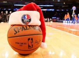 The NBA scheduled five games for Christmas starting with the New York Knicks hosting the Atlanta Hawks at noon and concluding the Dallas Mavericks at the Utah Jazz. (Image: Getty)