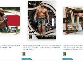 Panini has released the first ever UFC NFTs, with a variety of different packs and card styles dropping this week. (Image: PaniniAmerica.net)