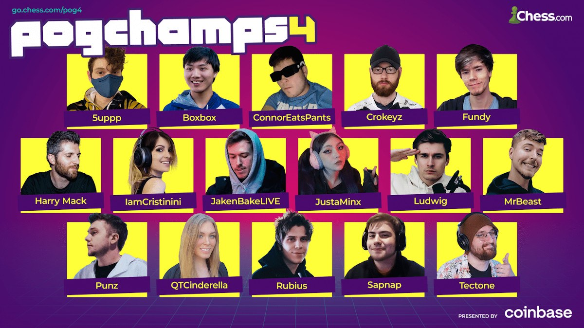 PogChamps 4 players format