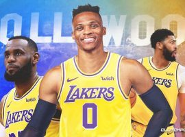 Russell Westbrook joins the LA Lakers in a mega-trade with the Washington Wizards, but the Lakers are not the top favorite to win the 2022 title. (Image: Clutch Sports)
