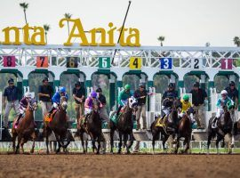 Just like these Thoroughbreds, Santa Anita Park jumps out to a fast start or its Autumn Meet. The iconic West Coast track offers 13 stakes races opening weekend, including seven Breeders' Cup Challenge Series events. (Image: Santa Anita Park)