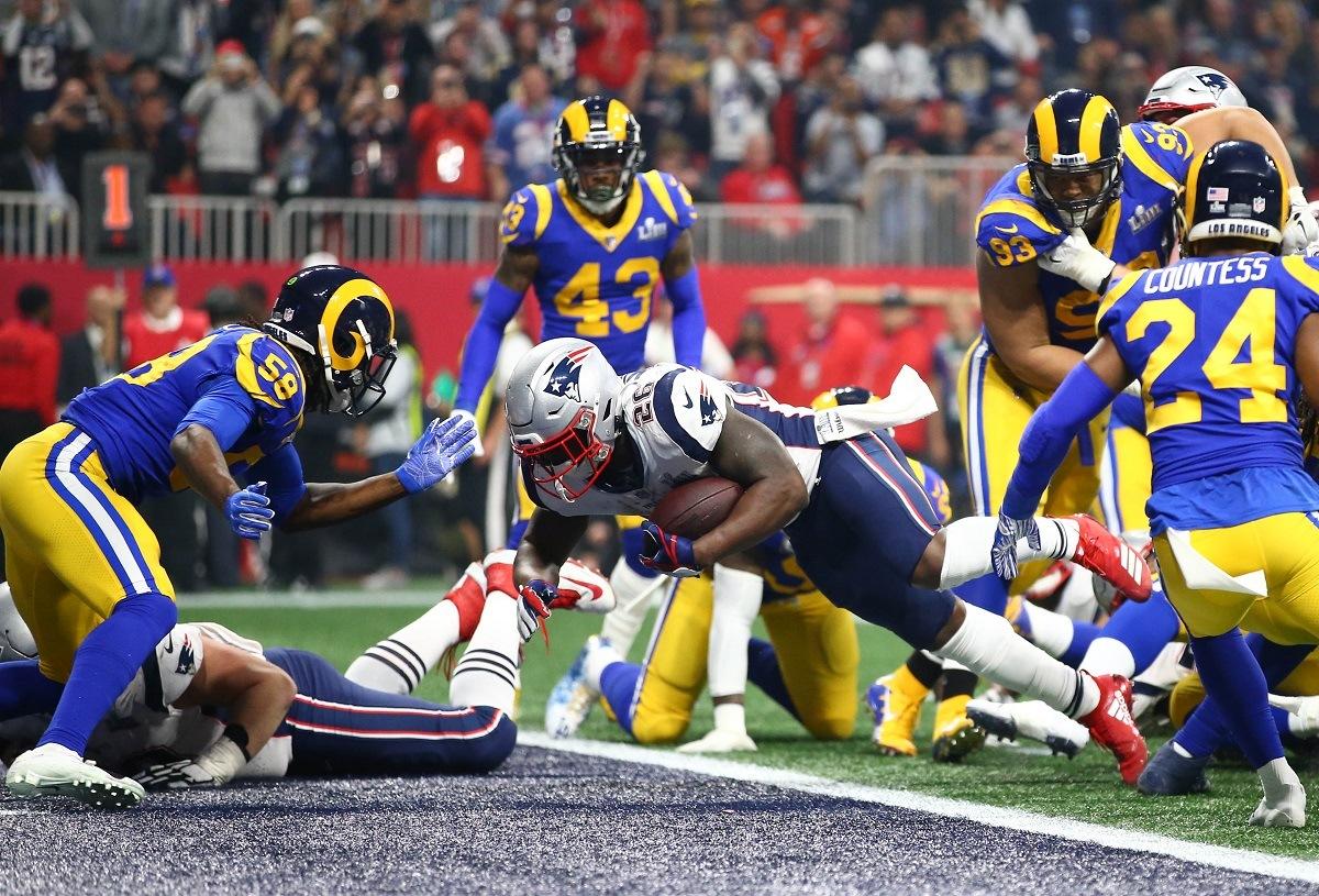 Sony Michel trade LA Rams RB New England Patriots