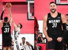 Max Strus from the Miami Heat hits a game-winner in sudden death against the Memphis Grizzlies in NBA Summer League action in Las Vegas. (Image: ESPN)