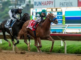 Tripoli and Tiago Pereira put on a vintage performance in the Grade 1 Pacific Classic. Del Mar's flagship race fueled a record day in betting handle at the San Diego-area track. (Image: Benoit Photo)