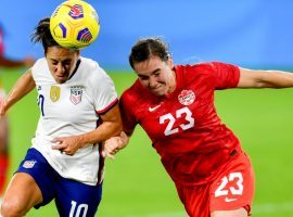 The United States and Canada will meet yet again in Olympic women's soccer on Monday, when they clash in the semifinals of the Tokyo Olympics. (Image: Getty)