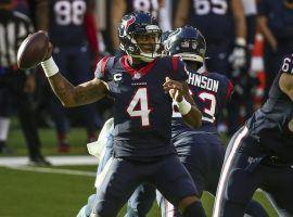 Quarterback Deshaun Watson in the pocket for the Houston Texans last season. (Image: Getty)