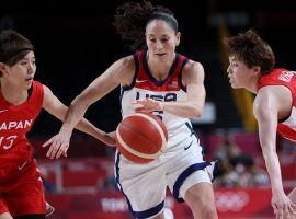 Japan has made it to its first Olympic women's basketball final, but faces a daunting challenge against Team USA in the gold medal game. (Image: Thomas Coex/AFP/Getty)