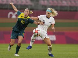 Team USA and Australia will face off in the bronze medal match in women's soccer at the Tokyo Olympics. (Image: Fernando Vergara/AP)